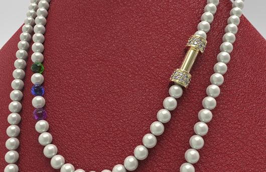 collana di perle virtuale modellazione rhinogold 3D CAD